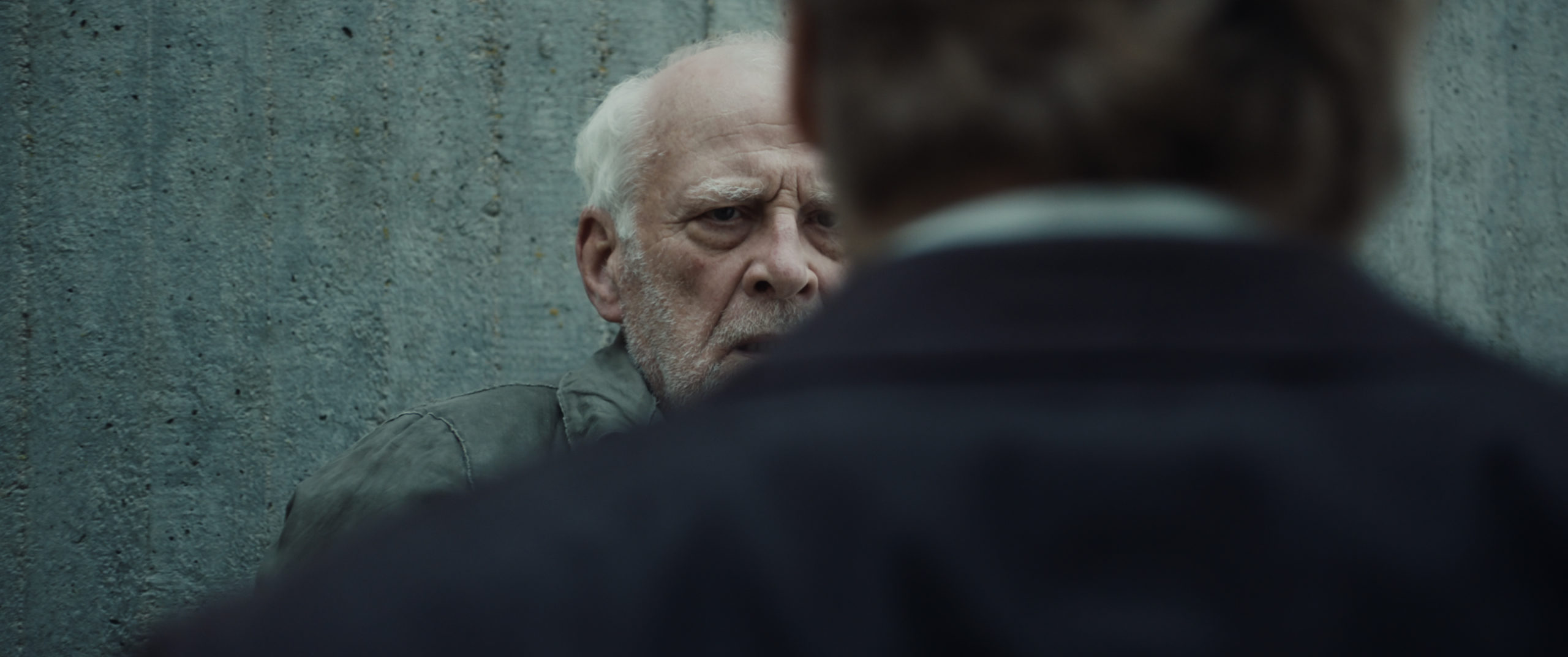 Film still from the feature film Endjaehrig by director Willi Kubica and director of photography Rafael Starman and actor Matthias Lier and Peter Meinhardt.
